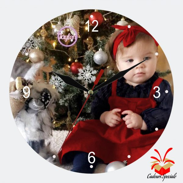 Ceas rotund din sticla baby christmas cadouri-speciale.ro
